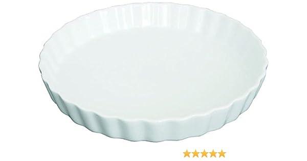 Auslaufform 2,6 cm H/öhe rund geriffelt 1 St/ück 10 cm Durchmesser Sch/älchen auch f/ür Cr/ème br/ûl/ée Porzellan Tortenform z.B