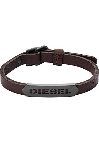Diesel DX1000 Herren Armband STACKABLE Edelstahl Silber Braun
