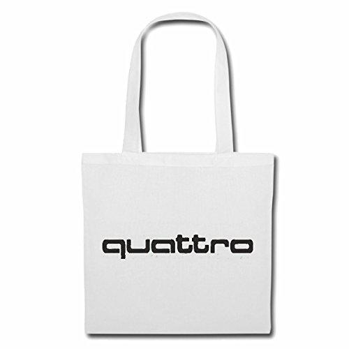 """Preisvergleich Produktbild Tasche Umhängetasche """"AUDI QUATTRO A3 A4 A5 A6 Q7 A8 AUDI RINGE CABRIO Coupé LIMOUSINE MOTORSPORT RENNSPORT"""" Einkaufstasche Schulbeutel Turnbeutel in Weiß"""