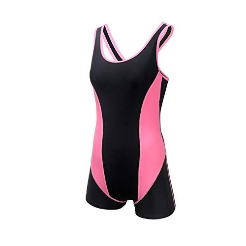 LLOZM Einteiliger Badeanzug Sexy Neckholder Badeanzug Badeanzug Tauchanzug Wettkampfbadeanzug (Pink,M)
