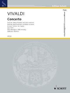 CONCERTO G-DUR OP 10/4 RV 435 F 6/16 T 488 - arrangiert für Querflöte - Klavier [Noten / Sheetmusic] Komponist: VIVALDI ANTONIO aus der Reihe: IL FLAUTO TRAVERSO