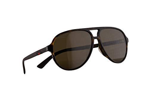 Gucci GG0423SA Sonnenbrille Havana Braun Mit Braunen Gläsern 60mm 002 GG0423/SA 0423/SA GG 0423SA