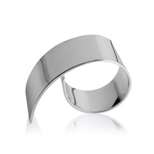Liuyu Küche Haus Silber Eisen Plattierung Spirale Serviettenring Serviette Schnalle Mundstück Ring Hotel Restaurant Haushalt Geschirr ( größe : 1 Pcs ) (Und Schwarz Silber Serviettenringe)