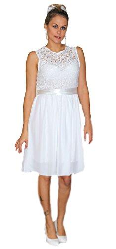 Brautkleid Spitze lang Hochzeitskleid S M L XL XXL XXXL XXXXL Braut Kleid Standesamt Weiß...