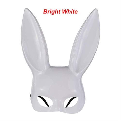 liaoliaotfx 1 STÜCK Bunny Girl Cosplay Kostüm Kaninchen Ohren Headwear Frauen Hairband Sexy Stirnband Halloween Maskerade Party Stirnband Geschenk Helle Weiß