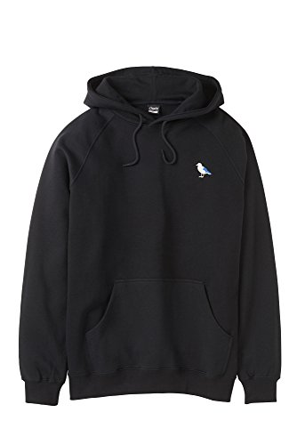 Embro Gull Hooded Sweatshirt Size S, Color BLACK