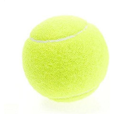 westeng 1pc Giallo ad alta elasticità professionale Formazione palline da tennis per divertimento da Tennis, Cricket, per bambini, motivo: cani, Green, 3 pieces