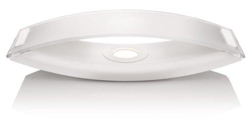 Philips InStyle Ponte - Lámpara de sobremesa, LED, corriente alterna, 50/60 Hz, luz blanca cálida, aluminio, 6,7 x 30,5 x 9,2 cm, color blanco