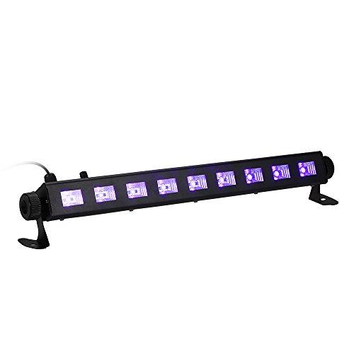 Tomshine 27W Dimmerabile LED UV bar Luce Nera Lampada Portatile ad Alta Brillante 9LEDs Potenza Totale Stage con Telecomando per Bar Club Partito Ristorante Atmosfera Decorazione.