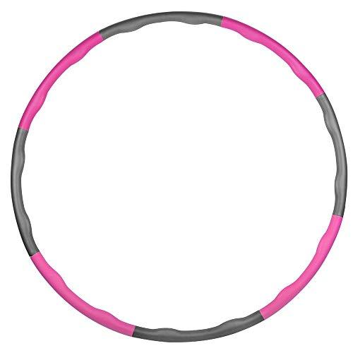 Mture Hula Hoop-Serie zur Gewichtsreduktion,Reifen mit Schaumstoff 1.2kg Gewichten beschwerter Hula-Hoop-Reifen für Fitness