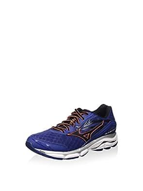 Mizuno Men's Wave Inspire 12 Running Shoes Blue Blue/Black