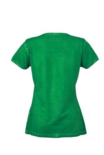 JAMES & NICHOLSON T-shirt Ladies Gipsy - T-shirt de Maternité - Femme Vert (Fern/Green)