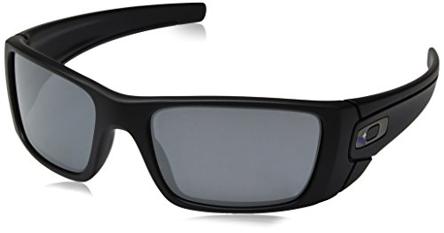Oakley Men's Fuel Cell Non-Polarized Iridium Rectangular Sunglasses, Blue Black, 60 mm