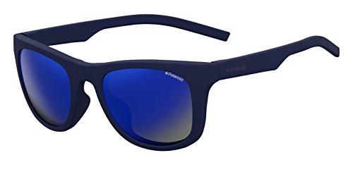 Polaroid Mirrored Wayfarer Unisex Sunglasses - (PLD 7020/S PJP 525X|52|Blue Color) image