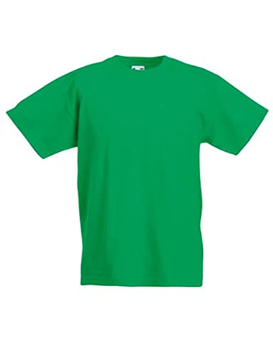 Fruit of the Loom Childrens/Kids Unisex Valueweight Short Sleeve T-Shirt (9-11) (Kelly Green)