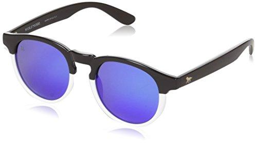 Wolfnoir Unisex-Erwachsene Sonnenbrille Hathi Income Blue, Mehrfarbig (Blanco / Azul), 45