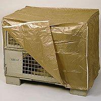 Abdeckhaube f. Gitterboxen, 2 Reißverschlüsse, transparent