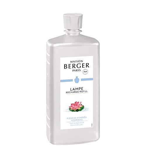 LAMPE BERGER Duft Zarte Seerose Raumduft, Plastik, Klar, 1000 ml (Duft Seerose)