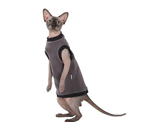 Kotomoda Katzen Kleidung Pullover Taup Fleece (M)