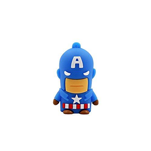 Avengers Super Heros USB-Stick blau Captain America 16 GB