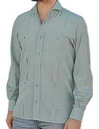 10506ebb2b Camisa Guayabera Caballero Cuadro Vichy Verde