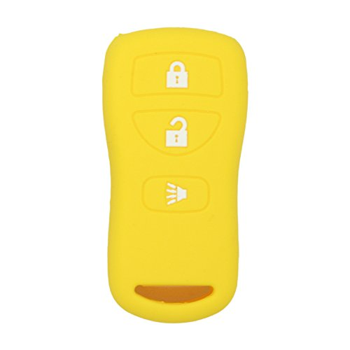 fassport Silikon Cover Haut Jacke Fit für Nissan 3 Tasten Fernbedienung Key Case cv2507