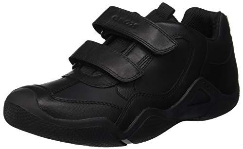 Geox Jungen JR Wader A Sneaker, Schwarz (Black C9999), 38 EU Boys-school-sneakers