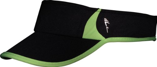 Myrtle Beach Uni Cap Running Sunvisor, black/neon-yellow, One size, MB6545 blny