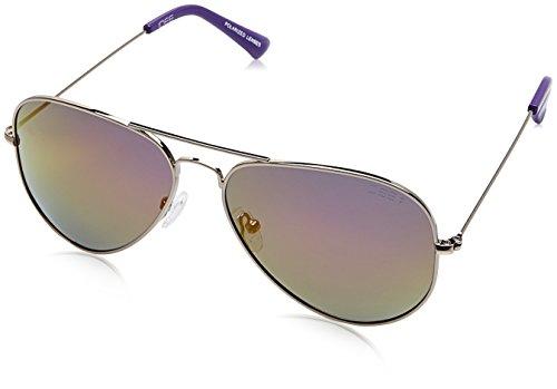IDEE Mirrored Aviator Unisex Sunglasses - (IDS2301C23PSG|58|Purple Revo-Smoke Color) image