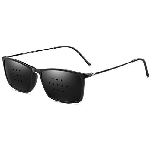 YTVYUN- Verbesserte Version Sonnenbrille Sehkorrektur Brille Sehkraft Verhinderung von Sehkraftnähe Astigmatismus Amblyopie Mikroloch Anti-Fatigue 11 Löcher