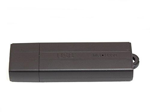 MQ-U350DE V8 anthrazit – USB-Stick Diktiergerät mit Aufnahmeaktivierung durch Geräusche oder Daueraufnahme. Bis zu 25 Tage lang Standby , USB Stick 8GB