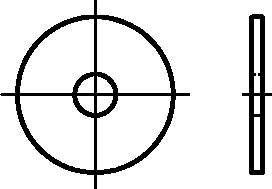 Dresselhaus Kotflügelscheiben Stärke 1,25 mm, 8,4 x 25 mm, galvanized verzinkt, 100 Stück, 0/2104/001/8,4/25/02
