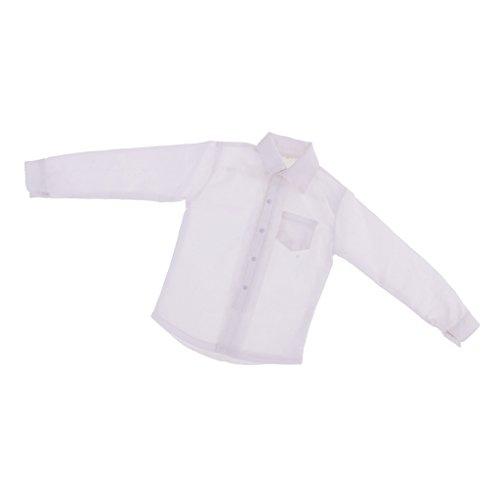 MagiDeal 1/6 weiße Formelle Kleidung - langärmeliges Shirt Hemd für 12 Zoll männlich Action Figur Körper - Männliche Formel