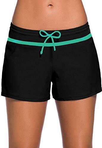 Ocean Plus Mujer Pantalones Cortos de Natación con Cordón Ajustable Deportes Acuáticos Protección...