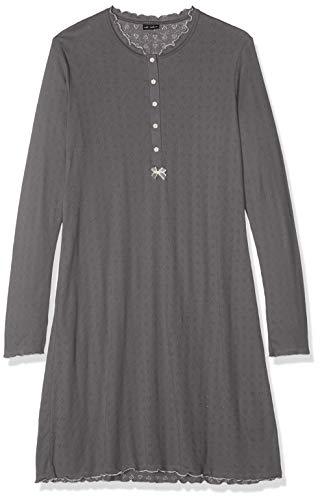 LOVABLE Grey Jacquard Night Gown Camicia da Notte Donna