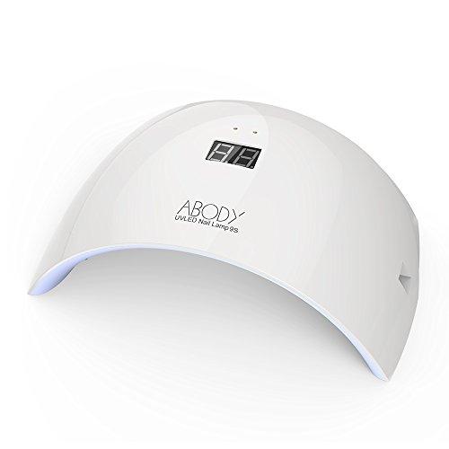 Abody 24W LED UV Nagel Trockner mit USB und LCD Schirm geeignet für Powerbank tragbare Nagel Lampe mit 50000 Stunden Lebensdauer für CND Schellac Acrylic und Gelish