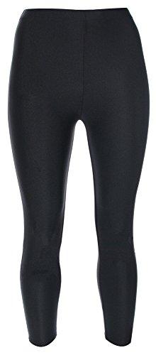 Re Tech UK - Mädchen Leggings - für Gymnastik, Tanzen & Ballett - glänzend - elastisch - Schwarz - 3-4 Jahre (Tanzen Kostüme Uk)