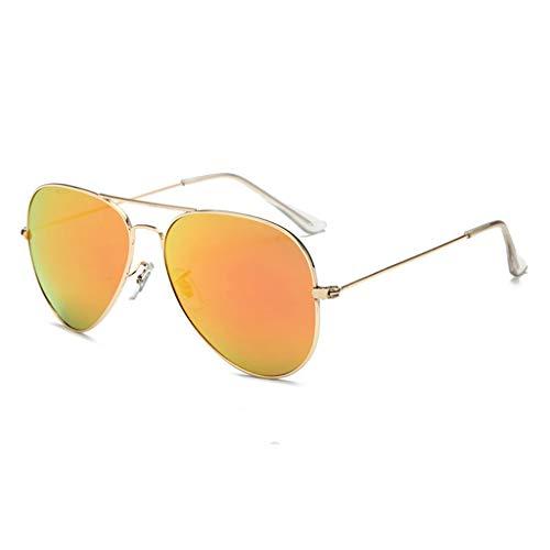 ZHAO ZHANQIANG Herren- und Damenmode Sonnenbrillen Leichte übergroße Aviator Sonnenbrillen - Spiegel polarisierte Linsen (Farbe : M)