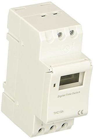 sourcingmap® THC15A Digital LCD Toutes les semaines Programmable Minuteur Relais Temporisateur Interrupteur 24VDC