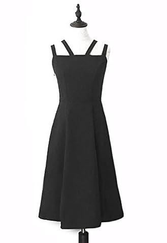 Vêtements pour femmes Robe d'été bandoulière sans manches monochrome robe longue longueur xs