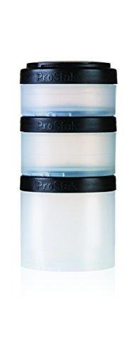 BlenderBottle ProStak Expansion Pak - schwarz transparent 3 Pak Container (250ml, 150ml und 100ml) inklusive 1. Pillenfach -