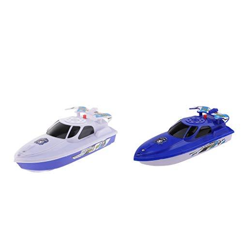 Fenteer 2pcs Batterien Boot Badespielzeug Badewannenspielzeug Wasserspielzeug für Kinder Baby