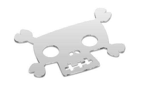 COOKUT BADP1 Dessous de Plat Imprimé Tête de Mort Type 1 INOX 20 cm