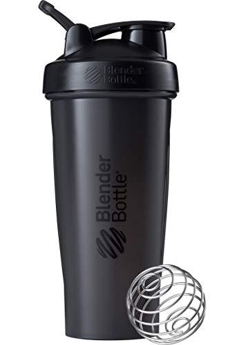 BlenderBottle Classic Loop Shaker | EiWeiß Shaker | Diät Shaker | Protein Shaker mit BlenderBall 820ml, Schwarz