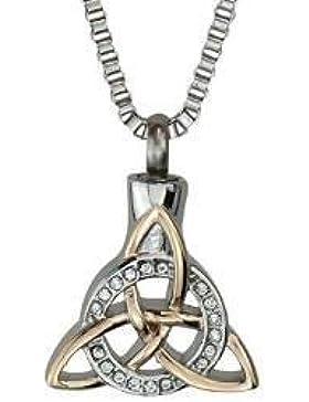 Keltisch Dreieinigkeit Knoten Urne Halskette - Gedenk Asche Andenken - Feuerbestattung Schmuck