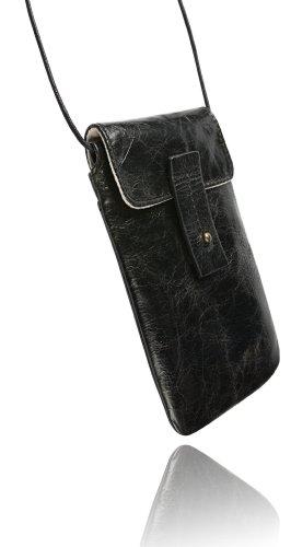 Krusell Tumba Handytasche für Apple iPhone 4S Vintage braun schwarz