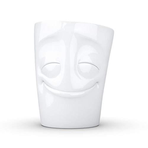 Fiftyeight Fifty Eigt vergnügt weiß Tasse, Porzellan, 10 cm