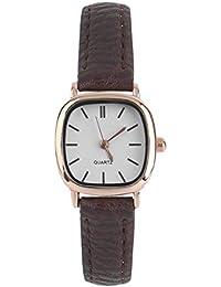 Vintage Redondo Shape pequeño dial Mujeres señora PU Cuero Reloj de Pulsera  de Estilo Coreano Reloj de Pulsera de Cuarzo Mejor Regalo de… d1e7b504ce50