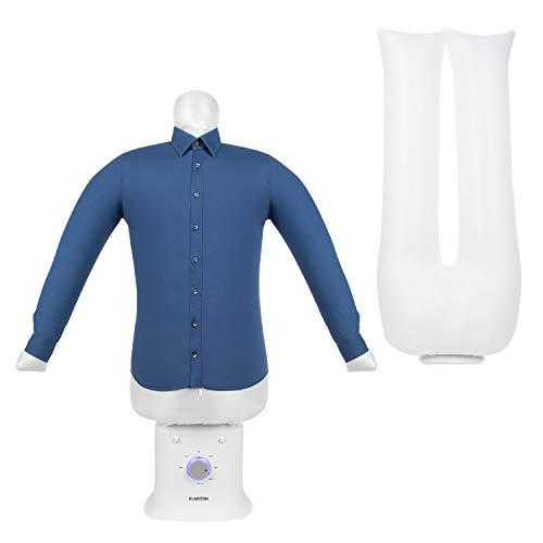 KLARSTEIN ShirtButler Deluxe - Centre de Repassage, Sèche et repasse, 1250 Watts, Taille compacte, Construction Solide, Voyant de contrôle LED, Matériau : Nylon Oxford, 6 Niveaux, Blanc