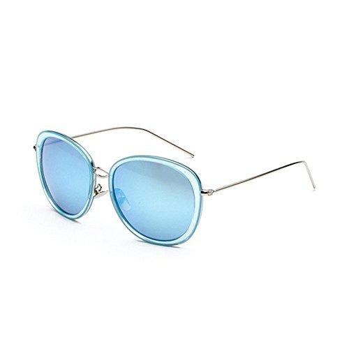 Axiba Ovalen großen Rahmen schmalen Gesicht Sonnenbrille Flut Person Runde Gesicht Sonne Brille helle Farbe reflektierende Mode Sonnenbrillen Kreatives Geschenk